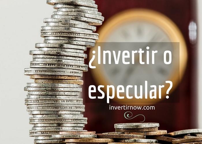 invertir o especular